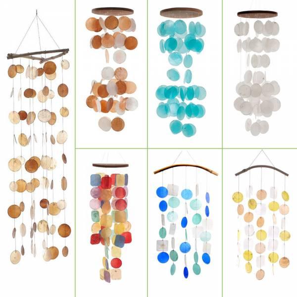 Windspiel verschiedene Farben, Perlmutt, Mobile, Fensterschmuck