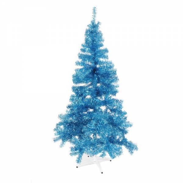 Künstlicher Weihnachtsbaum, farbiger Tannenbaum HELLBLAU METALLIC - 30 cm, 60 cm ,90 cm, 120 cm, 180