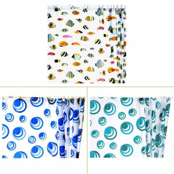 Duschvorhänge versch. Designs / Farben, 180x180 cm