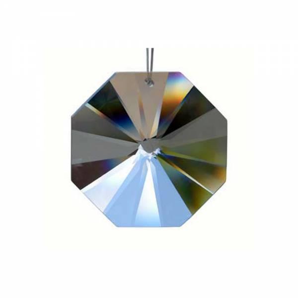 Bleikristall Oktagon, Achteck Größe: 50 mm, irisierende Besch.
