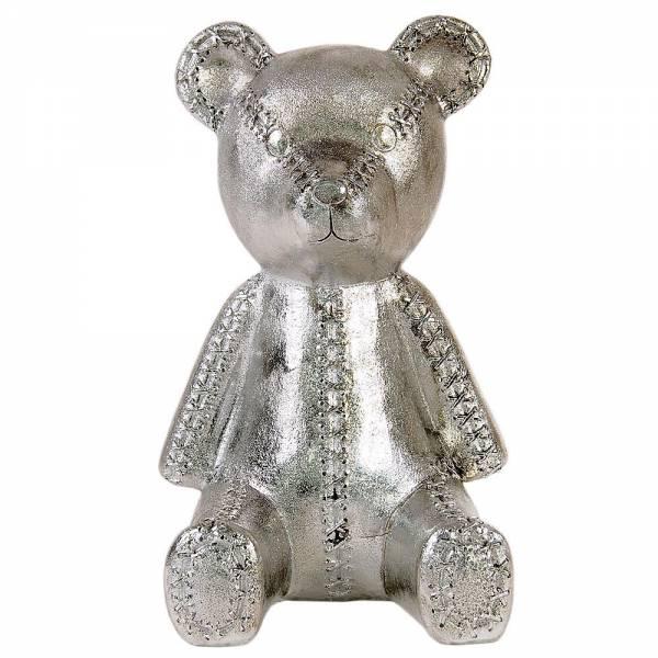 Spardose Teddy, verchromt