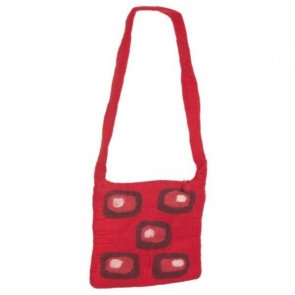 Umhängetasche Retro, 30 x 25 cm Farbe: rot
