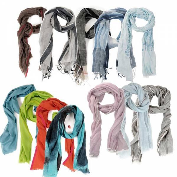 Designerschal, Schals für Damen und Herren aus Kaschmir, Leinen oder Wolle/Seide, Unisex