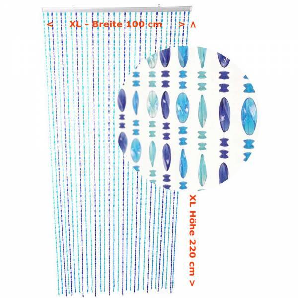 Gardinen und Vorhänge - Türvorhang Form TWISTER Farbe AQUA XL Material Kunststoff Größe 100 x 220 cm  - Onlineshop Hab und Gut Design