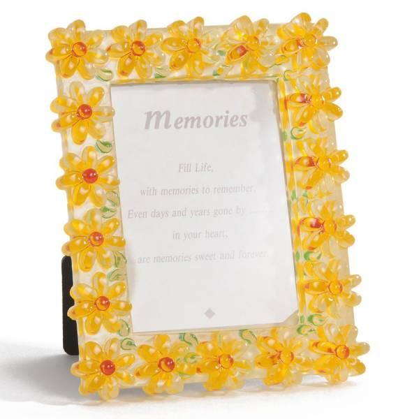Bilderrahmen FLOWERS, 13x11 cm gelb