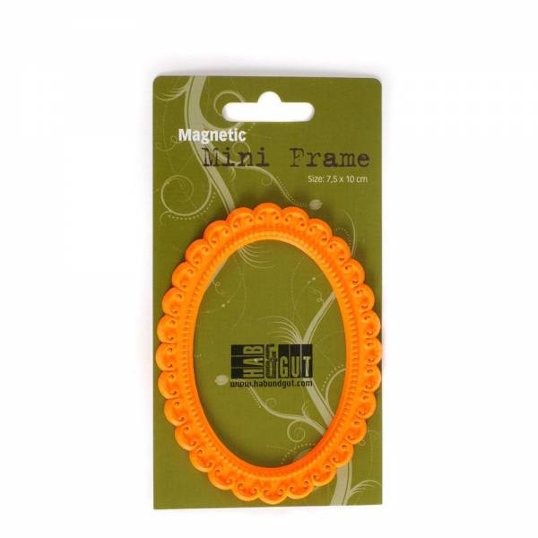 Magnet-Rahmen orange, Design: Oval