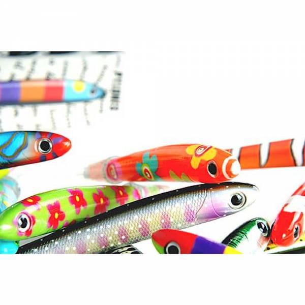 Fish Pen Kugelschreiber, verschiedene, bunte Fischarten, Fischkugelschreiber