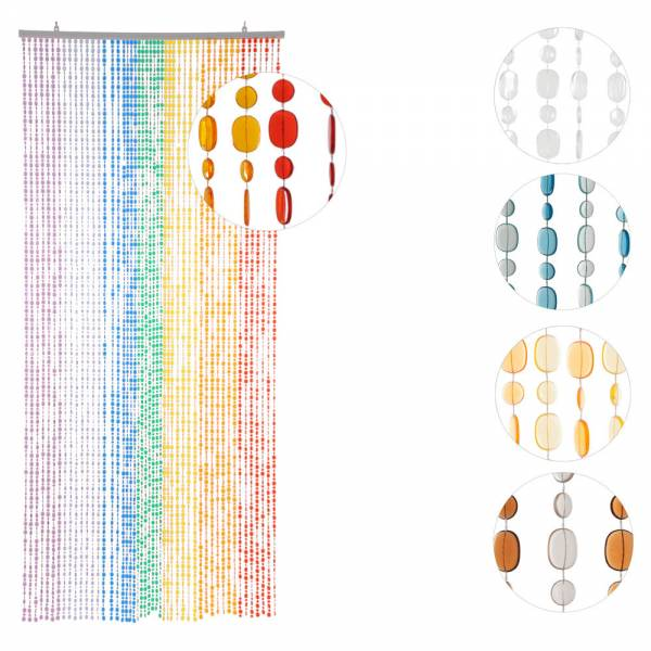 Türvorhang OVALE PAILLETTEN, verschiedene Farben, Kunststoff, 90 x 200 cm, 40 oder 49 Stränge