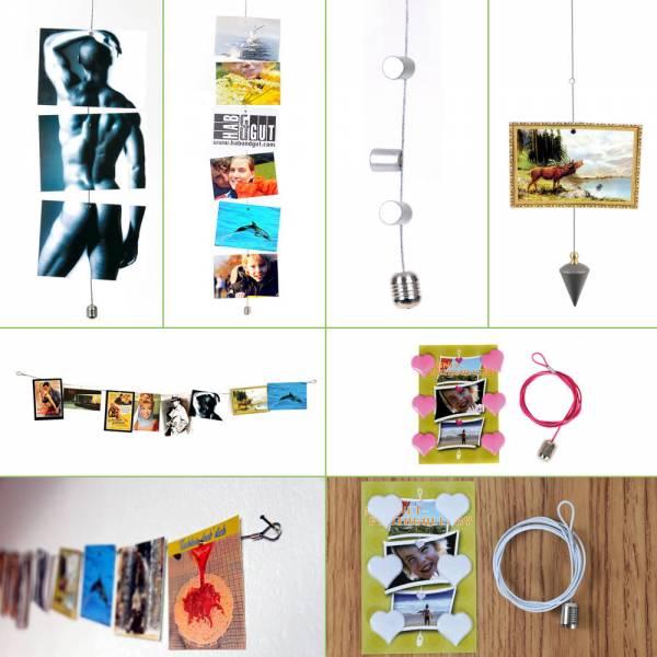 Magnetseil, Fotoseil, Bilderseil in verschiedenen Längen und mit verschiedenen Magneten