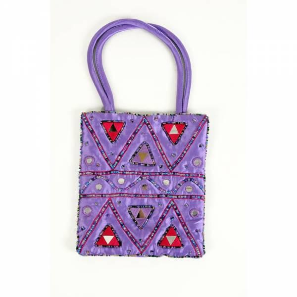 Tasche HIPPIE Farbe: violett mit Dreieck