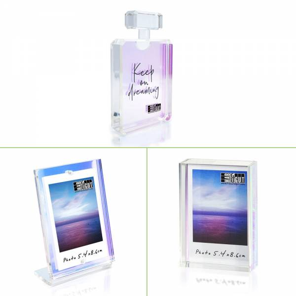 Bilderrahmen Acryl, transparent klar hochglanz, verschiedene Designs
