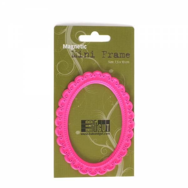 Magnet-Bilderrahmen pink Design: Oval