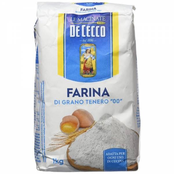De Cecco Farina di Grano Tenero Tipo 00, 1 Kg Pizzamehl