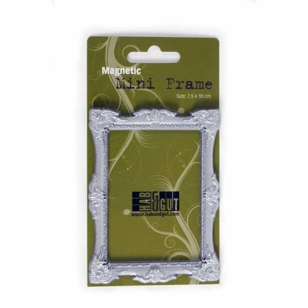 Magnet-Bilderrahmen Silber Design: Baroque