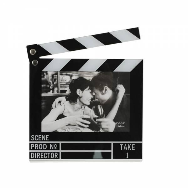 Bilderrahmen FILMKLAPPE, beweglich für Fotos im Format 13 x 9 cm