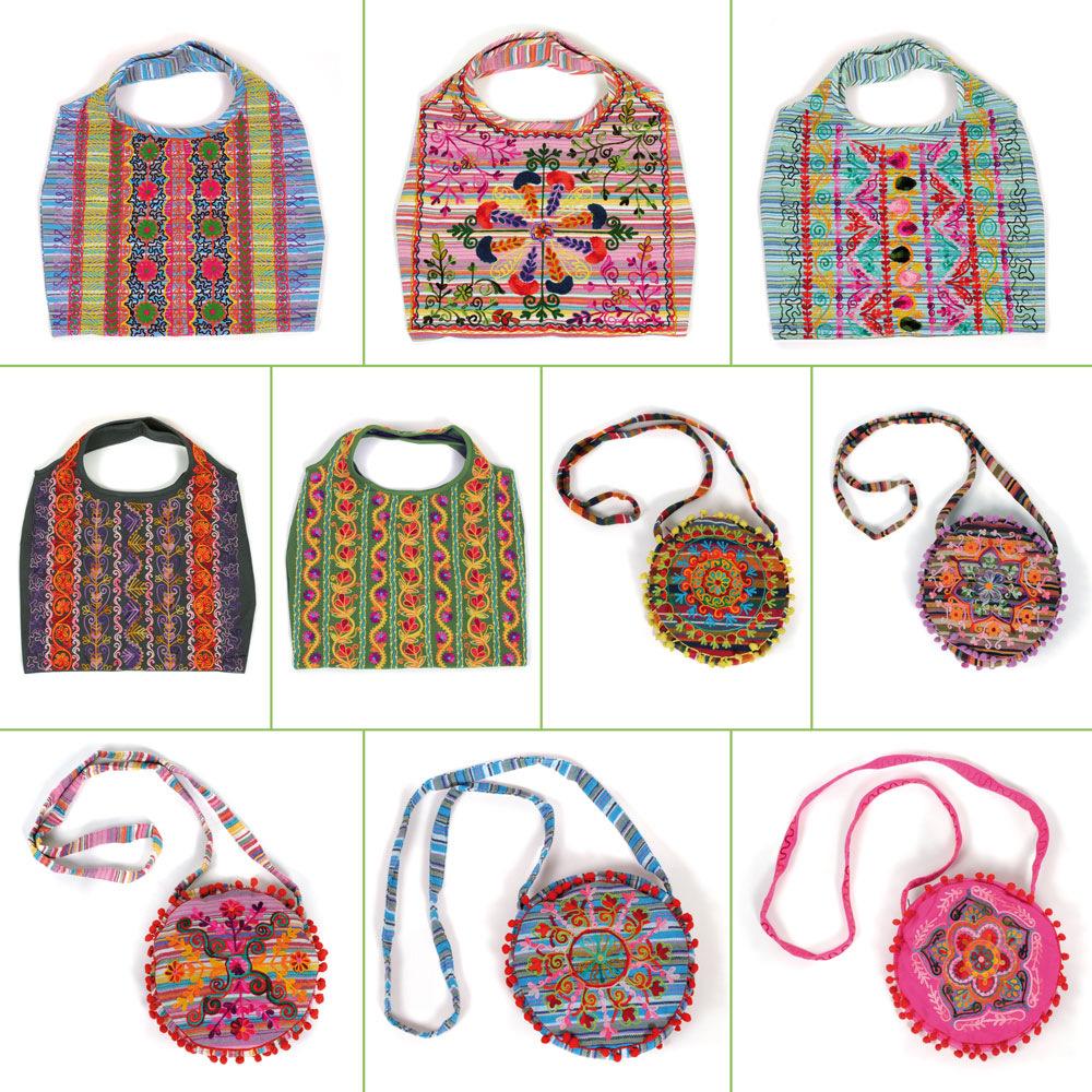 Indische damentasche aus 100 baumwolle farbige for Indische wohnaccessoires