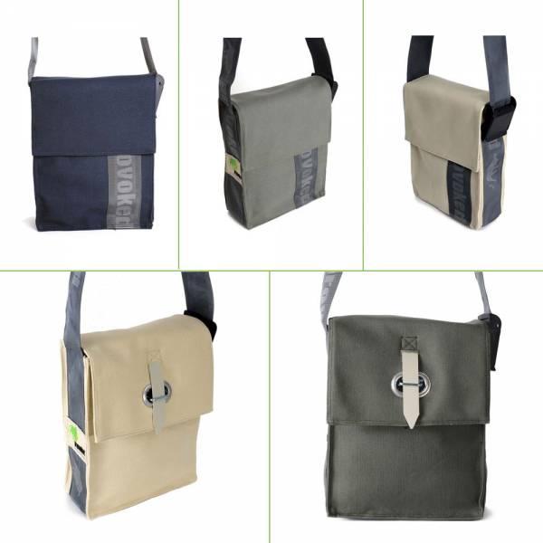 PROVOKED CITY BAG, aus Segeltuch mit Verschlusslasche oder Klettbandverschluss, verschiedene Farben