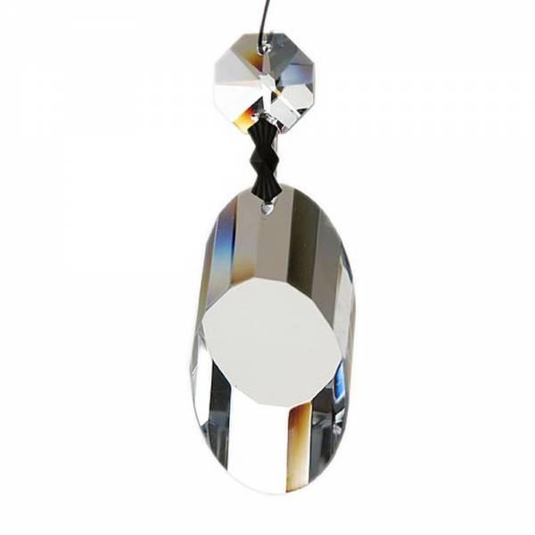 Kristall Säule schräg Design: geklipt, mit Oktago, 2x3 cm