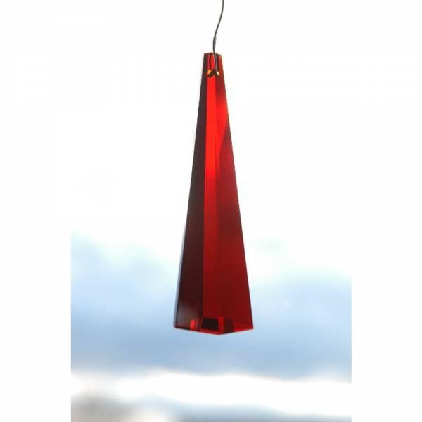 Kristall Säule 76 mm, Rot