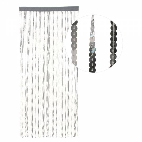 Türvorhang SILBER aus PAILETTEN, 90 cm x 200 cm