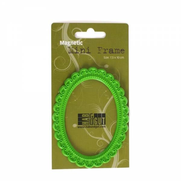 Magnet-Rahmen grün, sortiert Design: Oval