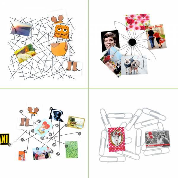 Kartenhalter für die Wand, Fotohalter, verschiedene Designs in weiß oder schwarz