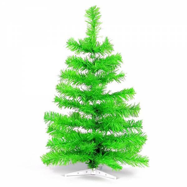 Künstlicher Weihnachtsbaum, farbiger Tannenbaum HELLGRÜN - 30 cm, 60 cm ,90 cm, 120 cm, 180 cm, 240