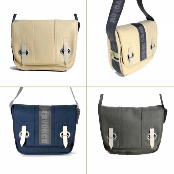 Big Bag-PROVOKED, Messenger aus Segeltuch mit Lkw-Verschlusslasche, verschiedene Farben 35 x 30 cm