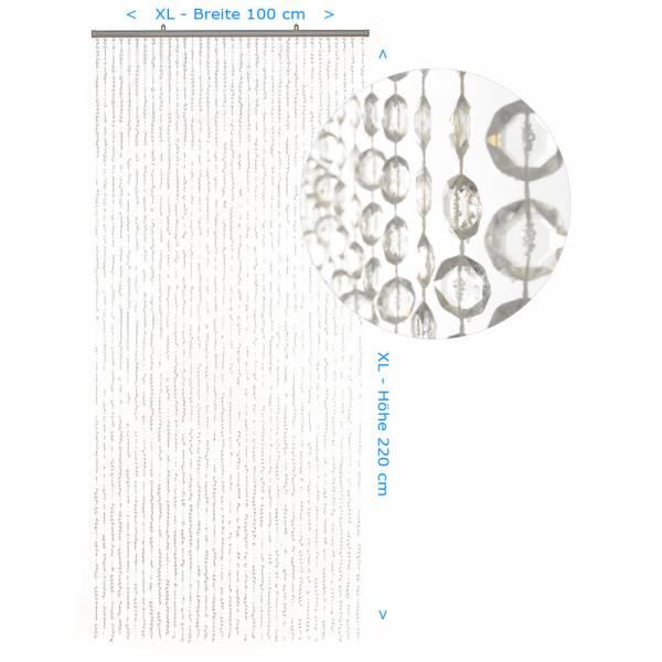 Gardinen und Vorhänge - Türvorhang Form DIAMANTEN Farbe KLAR XL Material Kunststoff Größe 100 x 220 cm  - Onlineshop Hab und Gut Design