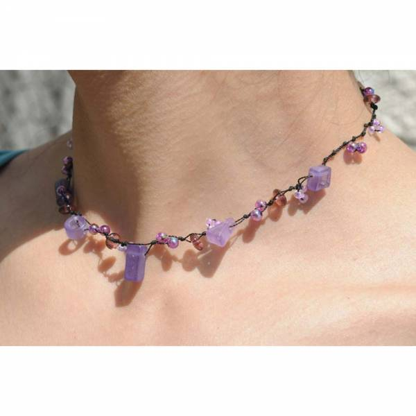 Dehnbare Halskette VIOLETTE FORMEN