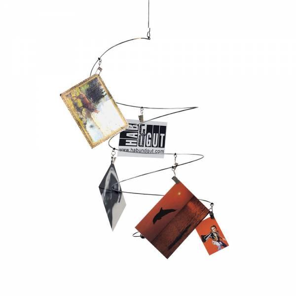 Fotomobile, Spirale mit 8 silberfarbenen Clips zum Bilder Aufhängen
