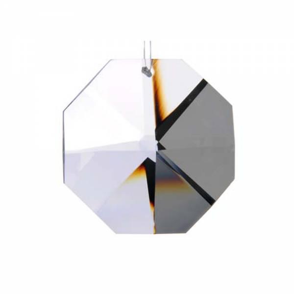 Kristall Oktagon, Achteck 14 mm, 1 Loch