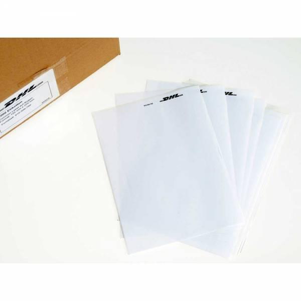 Selbstklebende Adressetiketten DHL, COMMON LABEL, DIN A5, Auswahl: 100,250,500 oder 1000 Stück
