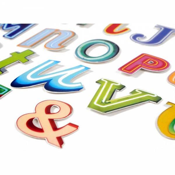 Magnetbuchstaben aus Metall Neon-Reklame Vintage A - Z Alphabet & Zeichen