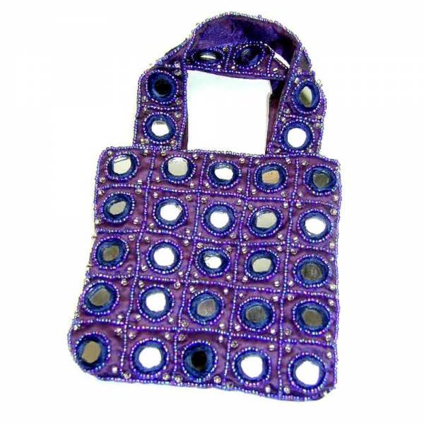 Tasche INDIEN violett 12 x 12cm