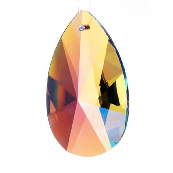 Kristall Mandel Sonnenschliff 50x32 mm