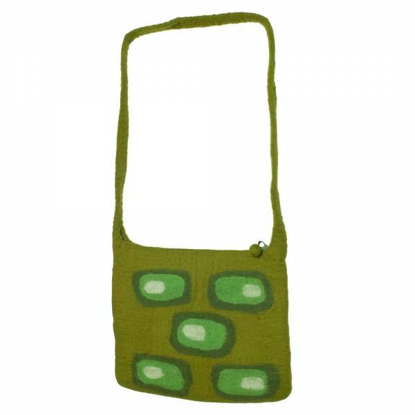 Umhängetasche Retro, 30 x 25 cm Farbe: grün