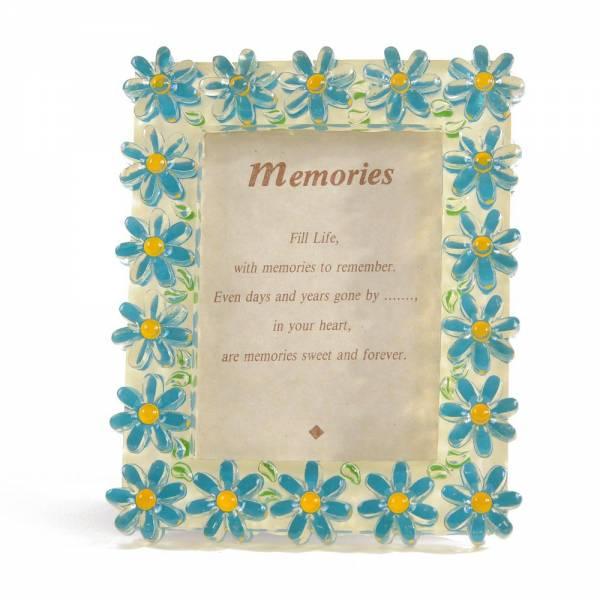 Bilderrahmen FLOWERS, 13x11 cm Blau