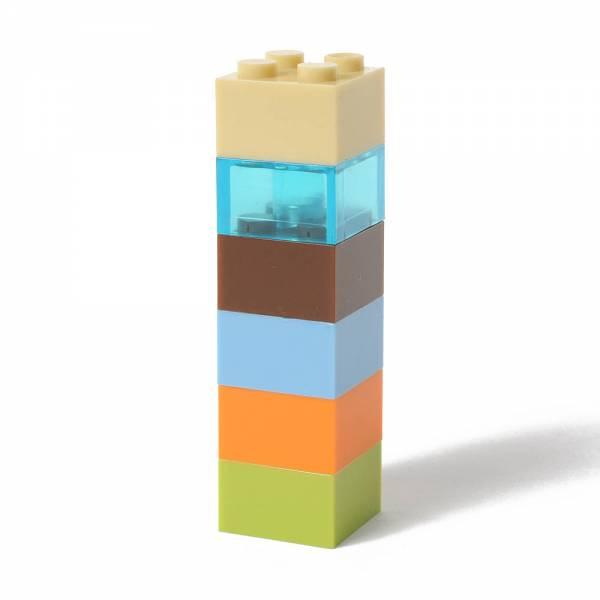6er Set Kühlschrank-Magnete - quadratische Kunststoff-Bausteine mit Noppen
