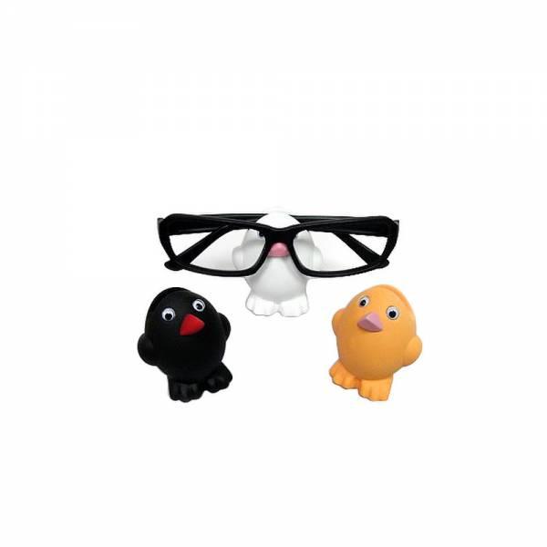Brillenhalter Küken, Brillenständer, Farbvarianten: orange , weiß oder schwarz