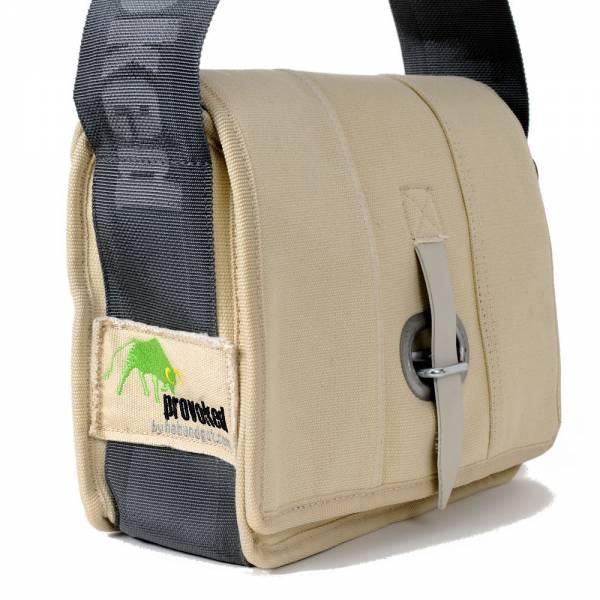 HAB & GUT (E402V) Messenger Bag Mini-PROVOKED, aus Segeltuch mit Verschlusslasche oder Klettbandvers