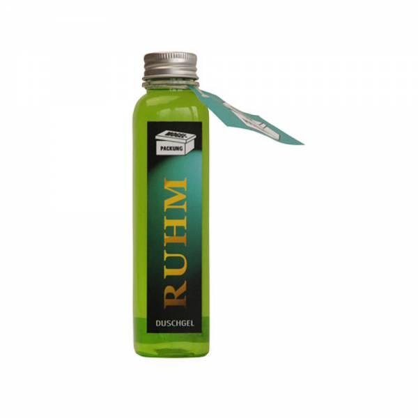 Duschgel mit Aufschrift RUHM, Inhalt: 200 ml