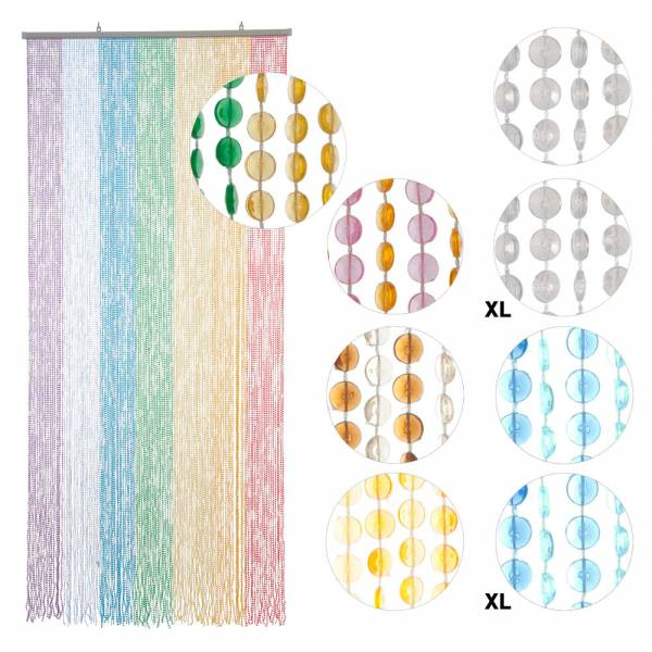 Türvorhang MINI-DIAMANTEN, verschiedene Farben, Kunststoff, Größe: 90 x 200 cm / 90 x 220 cm