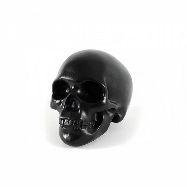 Totenkopf schwarz laque groß