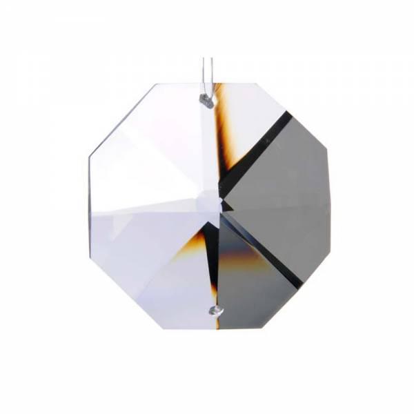 Kristall Oktagon, Achteck 14 mm, 2 Löcher