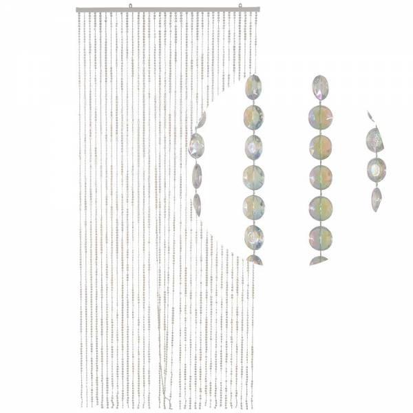 Gardinen und Vorhänge - Türvorhang Form DIAMANTEN Farbe KLAR PERLMUTT Material Kunststoff Größe 90 x 200 cm  - Onlineshop Hab und Gut Design