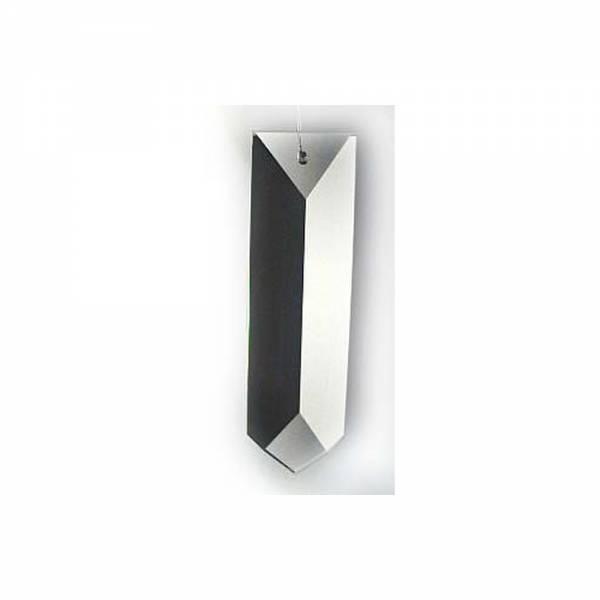 Kristall Rechteck Hänger, 63mm lang
