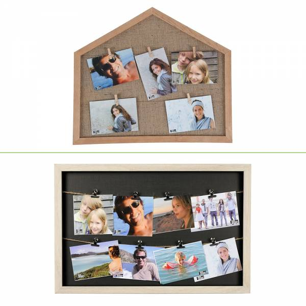 Multiple Picture Frames With 2 Ropes Andl Clips Collage Gallery