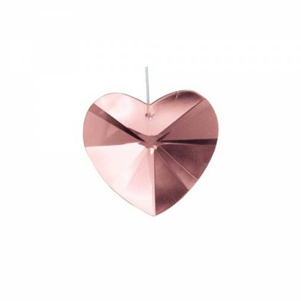 Kristall Herz HERZ ROSA, 20 mm