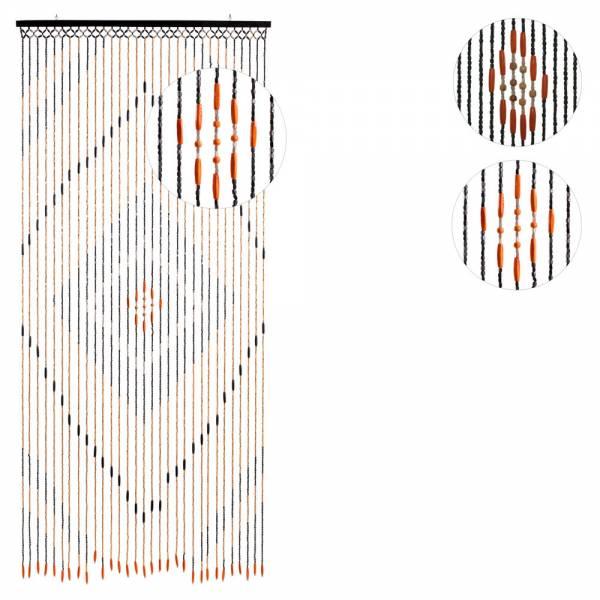 Türvorhang HOLZ PERLEN, BRAUN, Größe: 90 x 200 cm, Stränge: 31 oder 52
